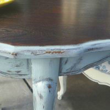 2 Chicks and a Toolbelt Chalky Chicks Furniture Paint Cancun Blue Chalk Paint