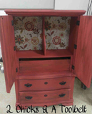 2 Chicks and a Toolbelt Chalky Chicks Furniture Paint Chalk Paint Emmys Red