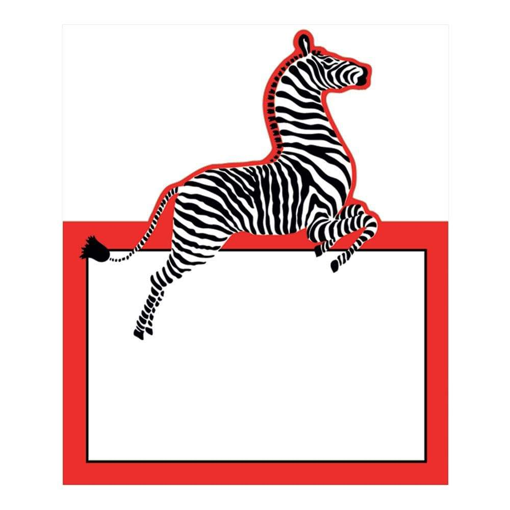 Caspari Zebras Die-Cut Place Cards - 8 Per Package