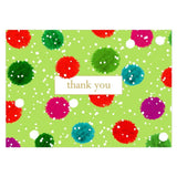 Caspari Snowy Pom Poms Thank You Notes - 8  Note Cards & 8 Envelopes