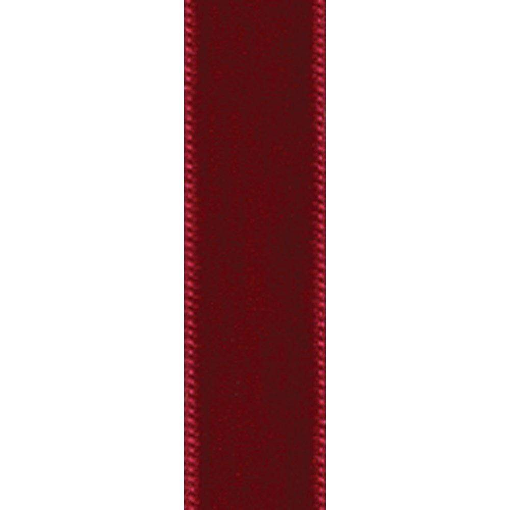 Red Velvet Thin Unwired Ribbon - 4 Yard Spool