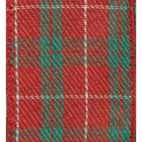 Caspari Red and Green Plaid Wired Ribbon - 8 Yard Spool