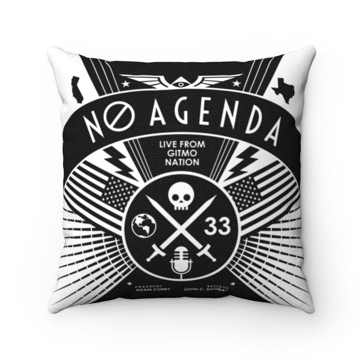 NO AGENDA RALLY - throw pillow