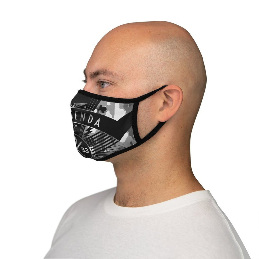 NO AGENDA RALLY - CGRAY - fitted face mask