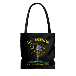 DONT TREAD ON PODCASTING - B - tote bag
