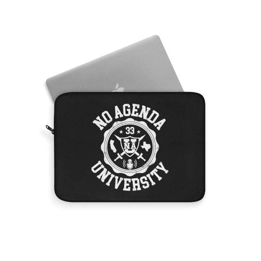 NO AGENDA UNIVERSITY - W - laptop sleeve
