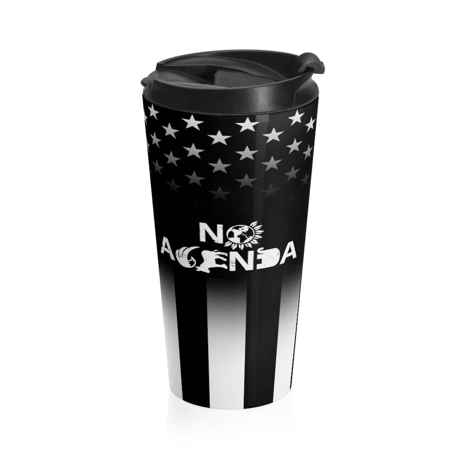 NO AGENDA PARTY TIME - 15 oz travel mug