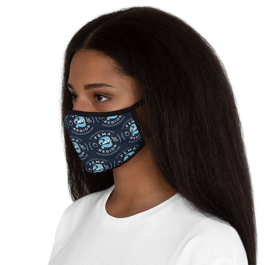 FEMA REGION TWO - BLUE - fitted face mask