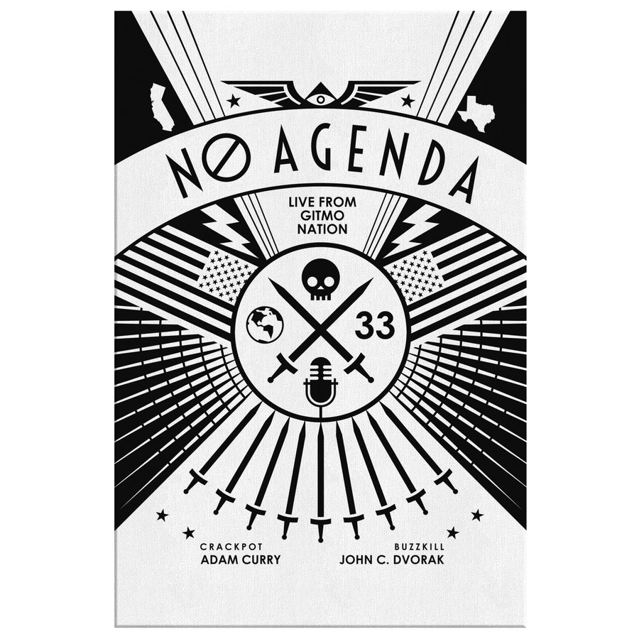 NO AGENDA RALLY | light - canvas print