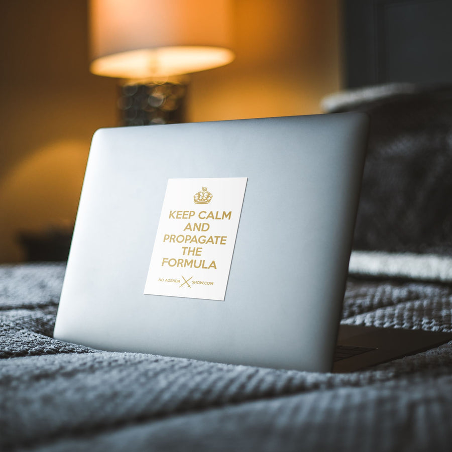 KEEP CALM | white gold - premium sticker