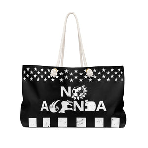 NO AGENDA PARTY TIME - weekender bag