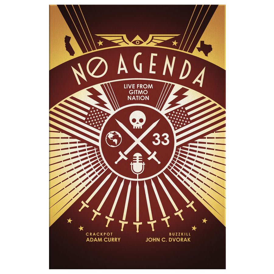 NO AGENDA RALLY | sienna - canvas print