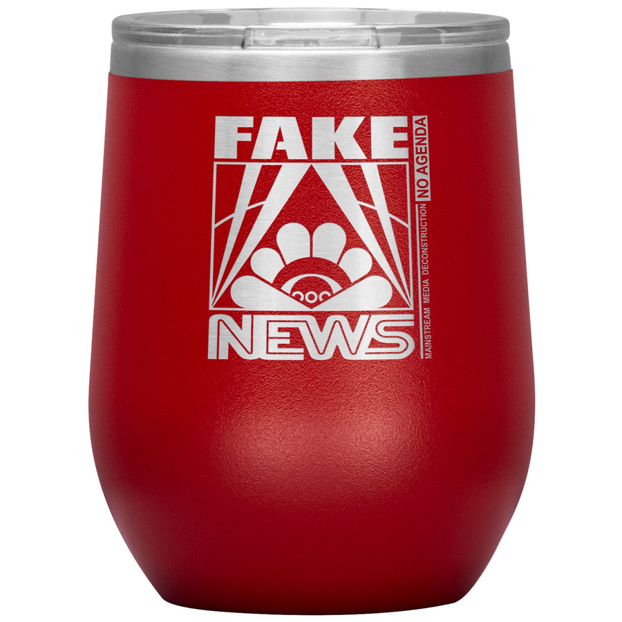 FAKE NEWS - 12 oz wine tumbler