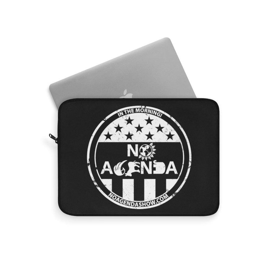 NO AGENDA PARTY TIME - laptop sleeve