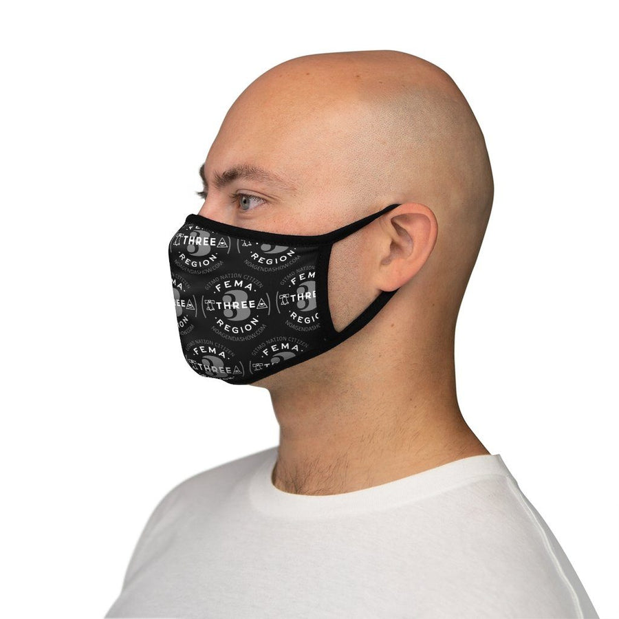 FEMA REGION THREE - BLACK - fitted face mask