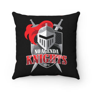 NO AGENDA KNIGHTS - throw pillow