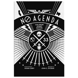 NO AGENDA RALLY | dark - canvas print