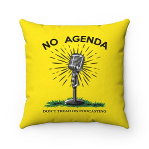 DONT TREAD ON PODCASTING - throw pillow case