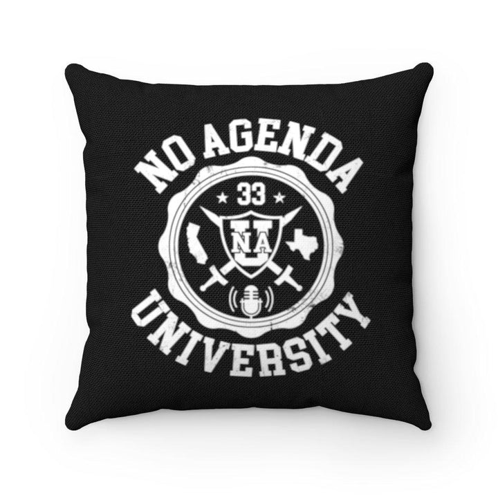 NO AGENDA UNIVERSITY - throw pillow