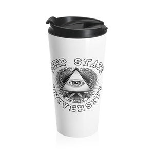 DEEP STATE UNIVERSITY - white - 15 oz travel mug