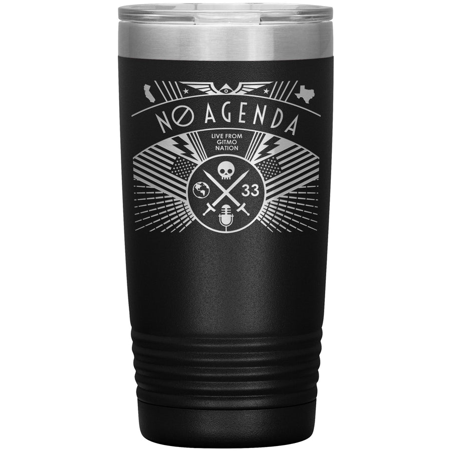 NO AGENDA RALLY - 20 oz tumbler