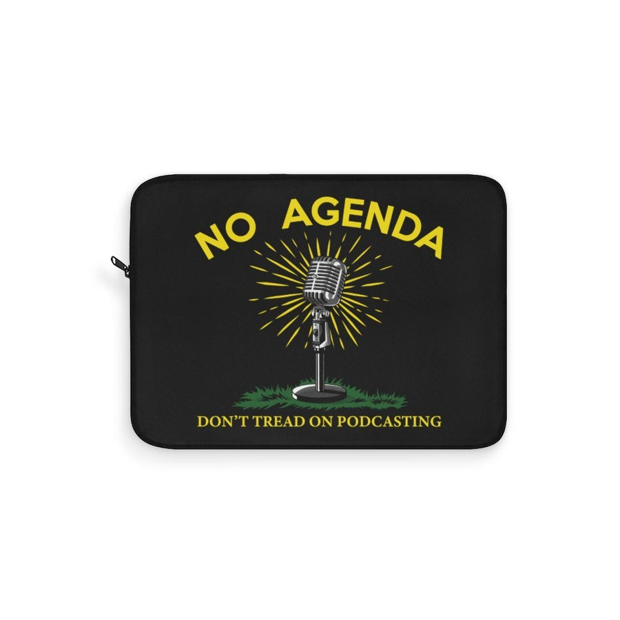 DONT TREAD ON PODCASTING - B - laptop sleeve