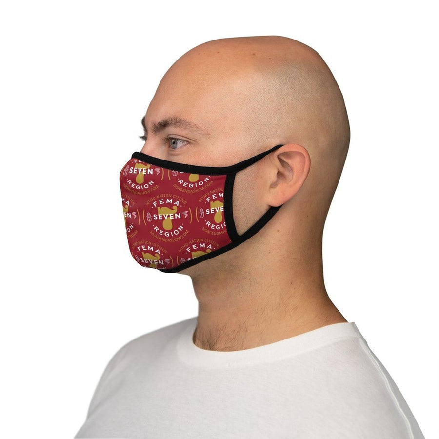 FEMA REGION SEVEN - RED - fitted face mask