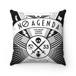 NO AGENDA RALLY - throw pillow case