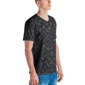 NO AGENDA CAMO - mens v neck