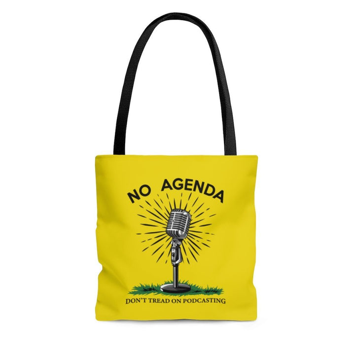 DONT TREAD ON PODCASTING - Y - tote bag