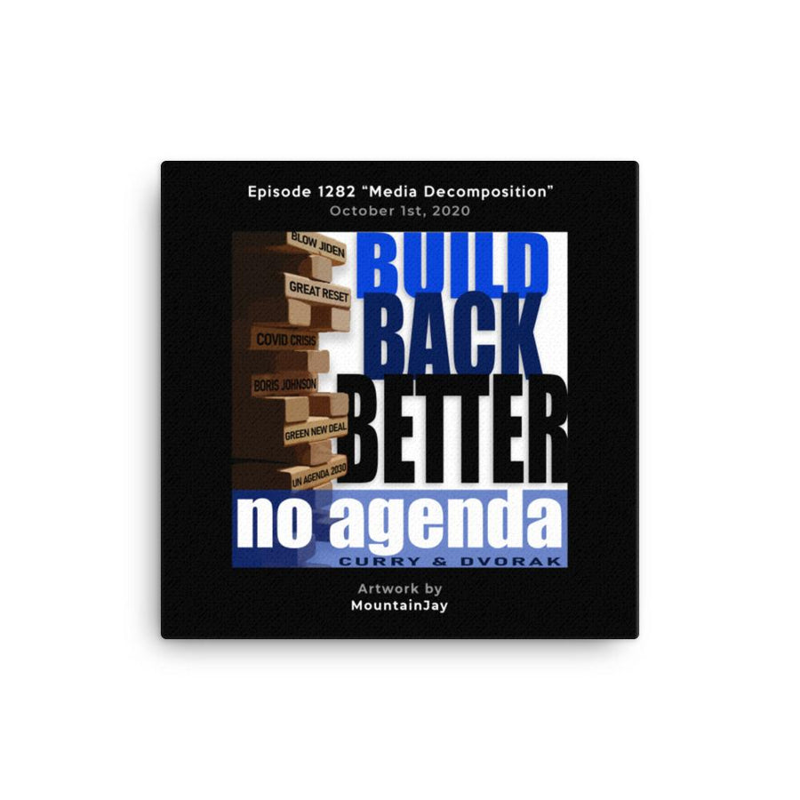 NO AGENDA 1282 - customizable canvas cover art