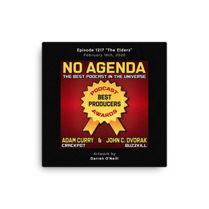 NO AGENDA 1217 - customizable canvas cover art
