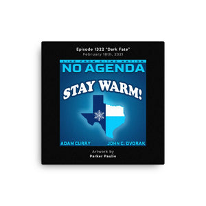 NO AGENDA 1322 - customizable canvas cover art
