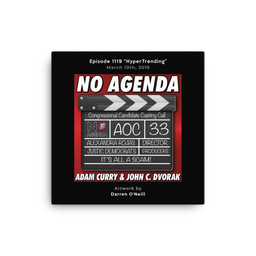 NO AGENDA 1119 - customizable canvas cover art