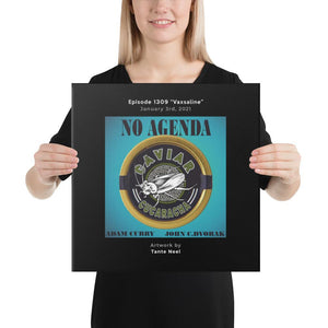 NO AGENDA 1309 - customizable canvas cover art