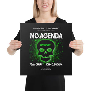 NO AGENDA 1296 - customizable canvas cover art