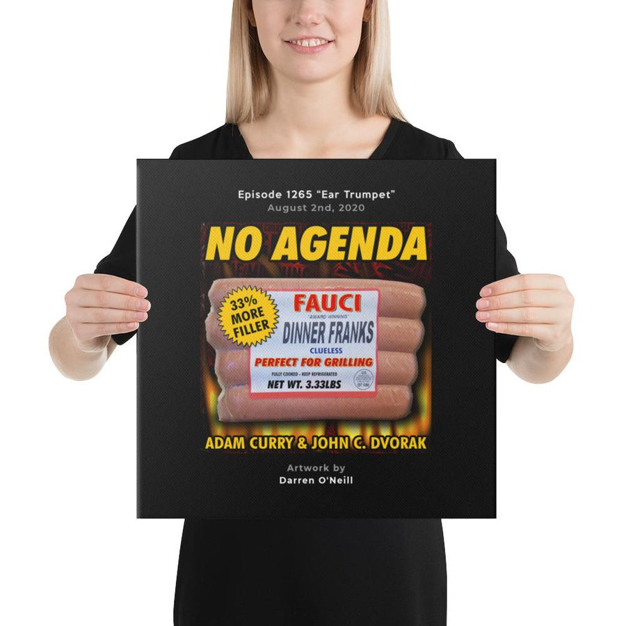 NO AGENDA 1265 - customizable canvas cover art
