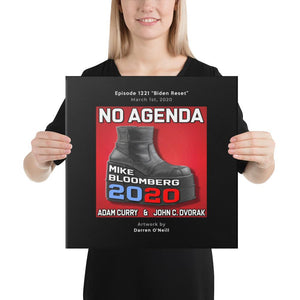 NO AGENDA 1221 - customizable canvas cover art