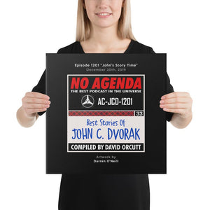 NO AGENDA 1201 - customizable canvas cover art