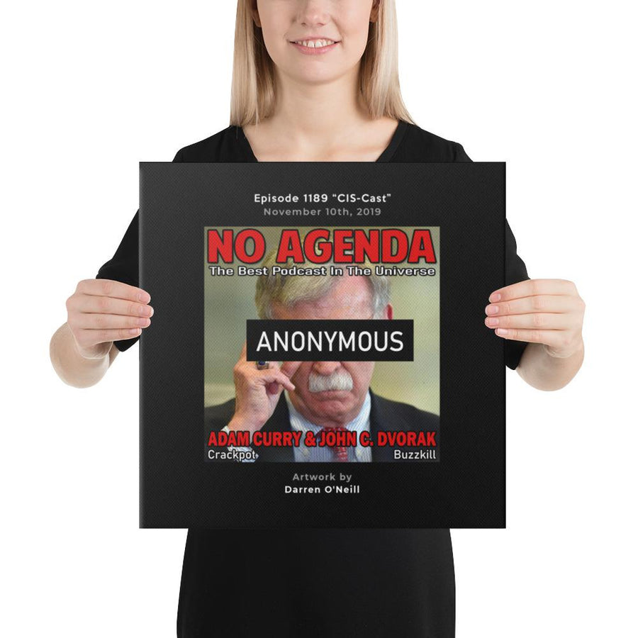 NO AGENDA 1189 - customizable canvas cover art