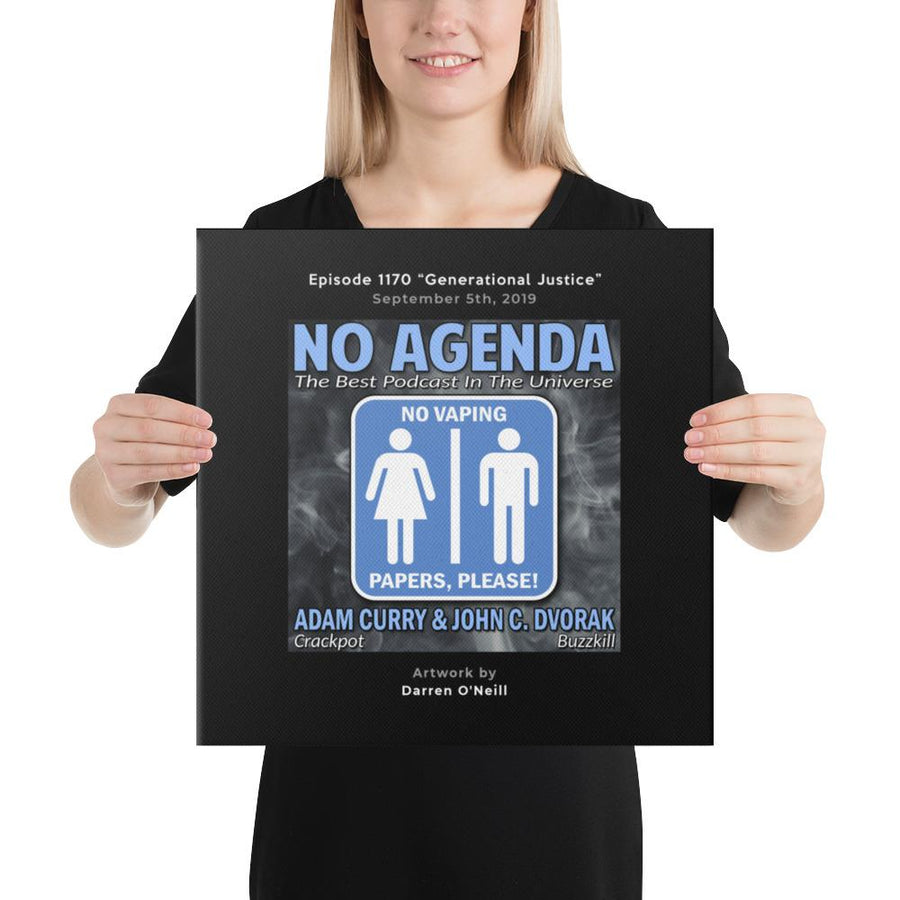 NO AGENDA 1170 - customizable canvas cover art