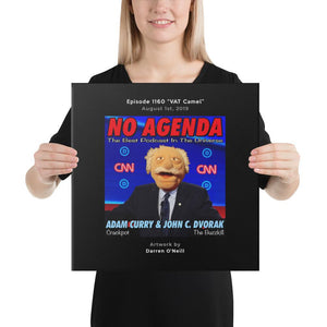 NO AGENDA 1160 - customizable canvas cover art