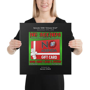 NO AGENDA 1098 - customizable canvas cover art