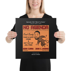 NO AGENDA 1124 - customizable canvas cover art
