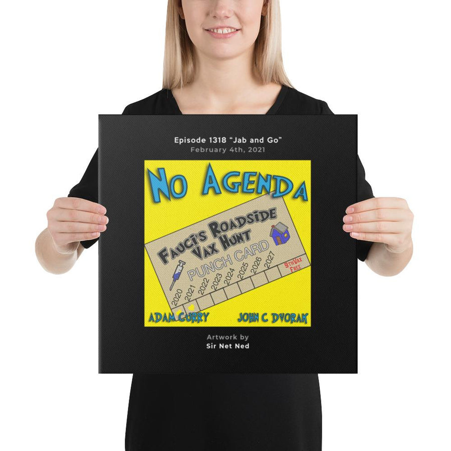 NO AGENDA 1318 - customizable canvas cover art