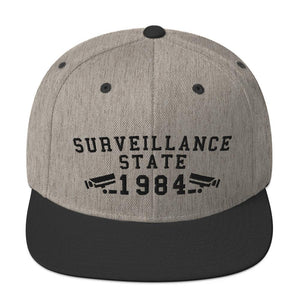 SURVEILLANCE STATE - high snapback hat