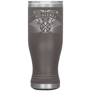 NO AGENDA RALLY - 20 oz boho tumbler