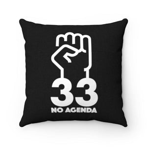 NO AGENDA 33 - B - throw pillow case