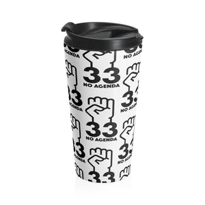 NO AGENDA 33 - W - 15 oz travel mug