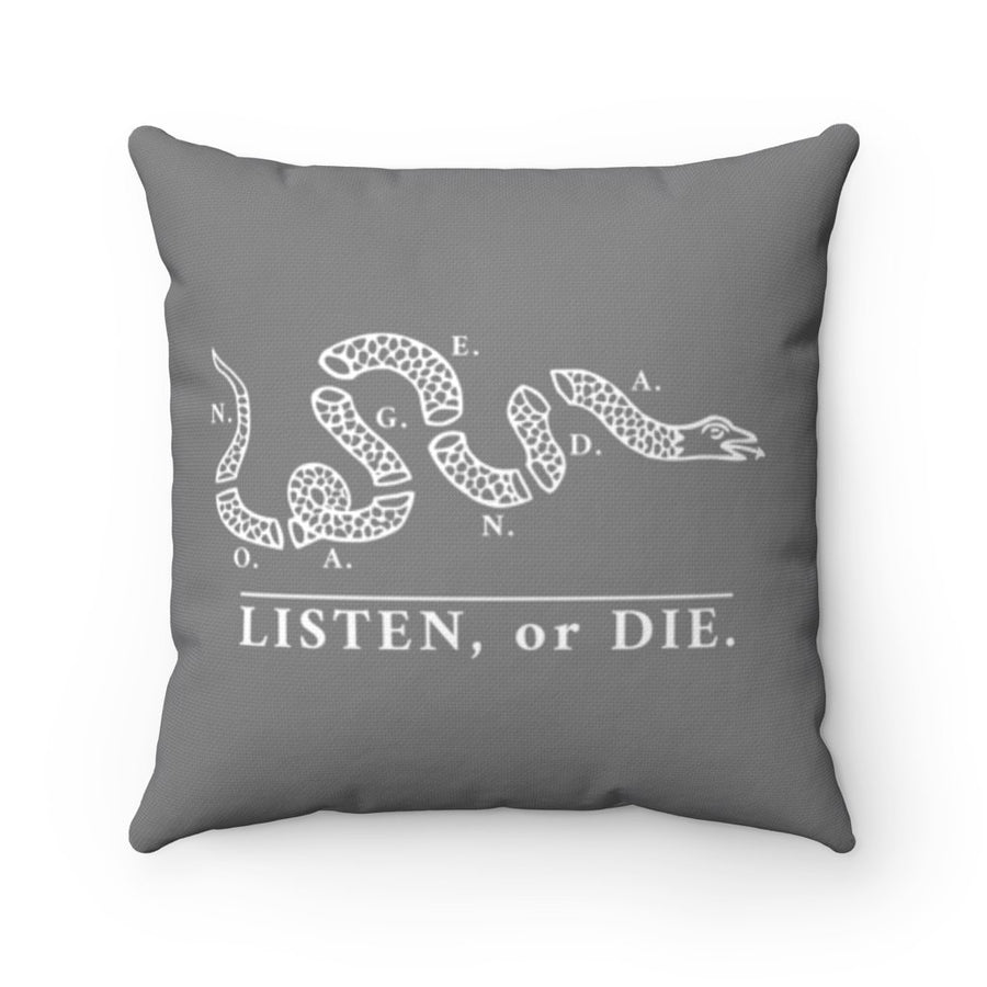 LISTEN OR DIE - GBW - throw pillow